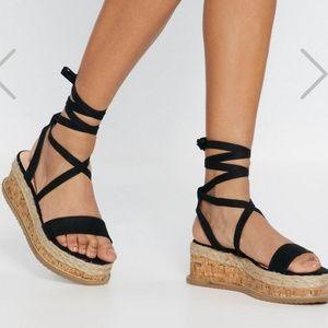 Brand new platform sandals